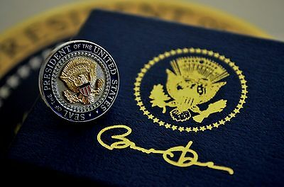 Authentic Obama Vip Presidential Shield/seal Lapel Pin~Round Series~Ltd. Ed.