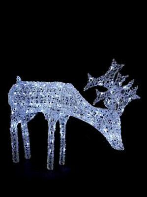 Outdoor Acrylic White LED Lights Grazing Reindeer Deer Christmas  COLLECTION