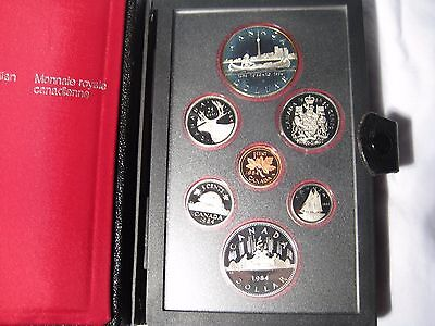 1984 Canada Double Dollar Proof Set Toronto Sesquicentennial Silver With COA