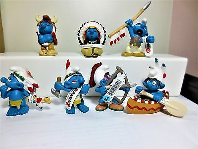 MINT set of 7 Indian  smurf serie all MINT from GERMANY original