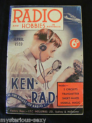 RADIO AND HOBBIES IN AUSTRALIA MAGAZINE ~APRIL 1939. VOL 1, No: 1.- 1989 Reprint