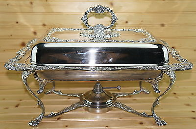 Wallace Baroque 8 Pc Buffet Server-Chafing Dish/Covered Casserole-VERY RARE USA