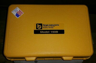 Berger Instruments #190B Level & Transit With Case, Berger Tripod