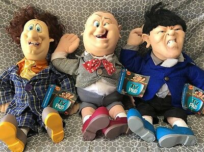 Larry Curly & Moe The Three Stooges Spumco Comedy Doll 22 Inch 1996 Tag