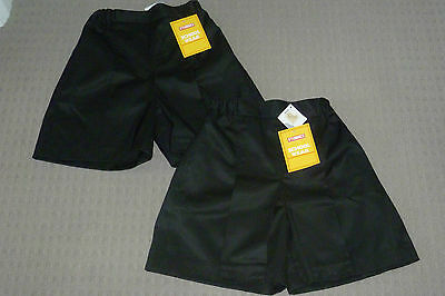 **BNWT** 2 x Girl's Black Stubbies Skorts – Size 12 – Ideal for school