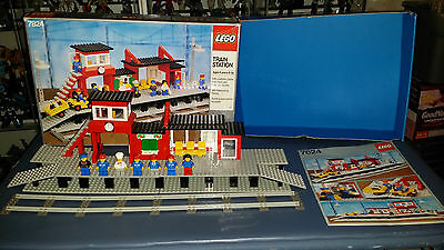 Vintage LEGO 7824 Railway Station w Box, Instructions 99% complete FREE SHIPPING