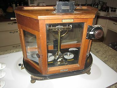Extremely Rare Paul Bunge Assayers Analytical Scale Pharmaceutical