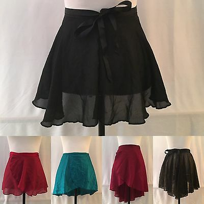 Wrap Skirt Ballet Dance Ice Skating Costume, Various Styles & Colors, Adult
