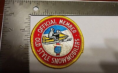 MINT VINTAGE  patch beer official member Old style snowmobilers Snowmobile