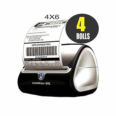 4 JUMBO Rolls DYMO 4XL Direct Thermal Shipping Labels(4 x 6) 1744907 Compatible