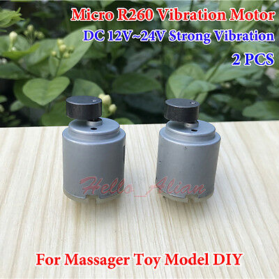 2PCS  Micro R260 Vibrating Motor  DC 12V 24V Strong Vibration for Massager Model