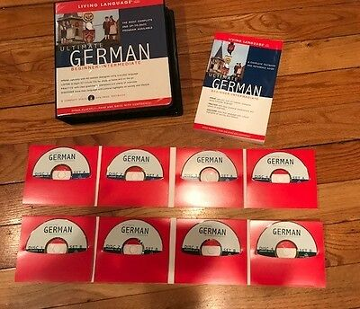 LIVING LANGUAGE - Ultimate German Beginner-Intermediate ** Like New - Mint **