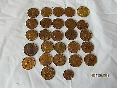 Lot of 27 Tokens or Coins of American West Cowboys and Indians Wyatt Earp Crazy