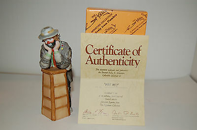 """Emmett Kelly Jr Miniature Collectable  """"Why Me"""" # 10004 Taiwan Flambro"""