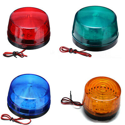 12V LED Strobe Beacon Emergency Alarm Warning Flashing Light Warning Signal Lamp
