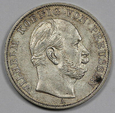 1871 A German States Prussia Thaler Victory Over France Silver Coin XF+ KM#500