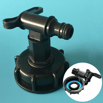 """1000L IBC To  3/4"""" (20mm) Water Tank Hose Yard Adapter Fittings With Switch New"""