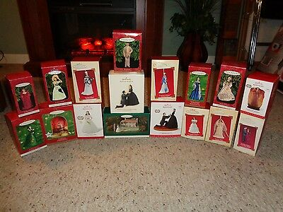 Lot of 17 Various NIB Gone withThe Wind Hallmark Ornaments w/ Boxes
