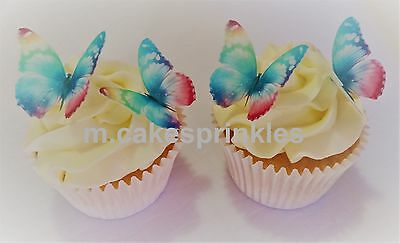 Edible Butterfly Cake, Cupcake Decoration  Rainbow 16pc - 3D