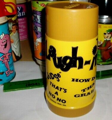 Laugh In-Gold Cup`1968`Tv Show-Aladdin Ind,Lunchbox Plastic-Thermos->Free To US