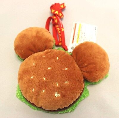 NEW! Burger coin pass cace shoulder Tokyo Disneyland Disney JAPAN Mickey mouse