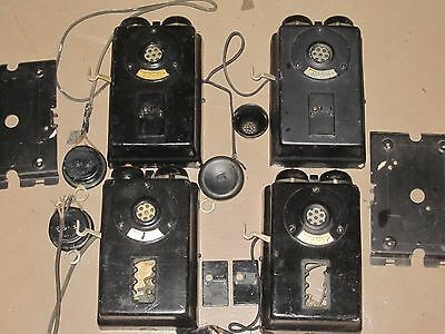 Lot of Four 1914 WESTERN ELECTRIC 'INTER-PHONE' Antique LOOK!