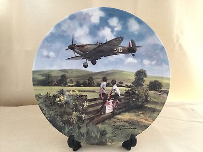 Royal Doulton Spitfires Coming Home Michal Turner Plate number 3101D First issue