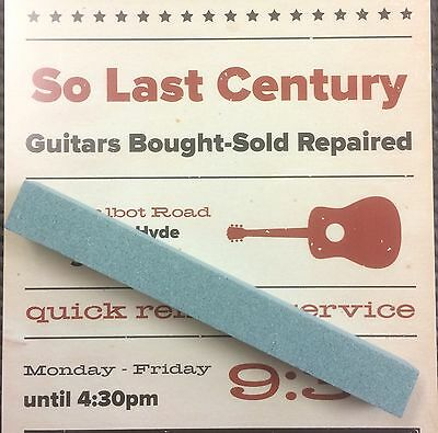 🎸 Luthier Guitar Tech Tool Fret Leveling Crowning Nut Saddle File Filing Block