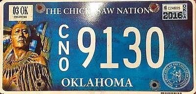 Oklahoma 'Chickasaw Nation' Indian Tribe License Plate (CN09130)