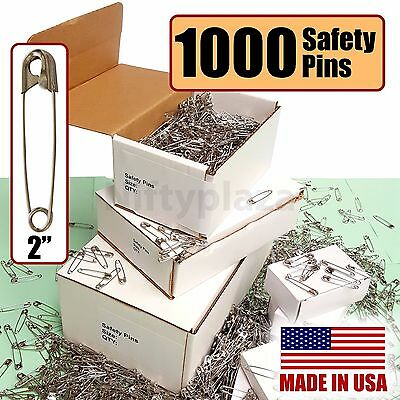 "NiftyPlaza 1000 Extra Large Safety Pins Size 2"" for Quilters Crafting Diapers"