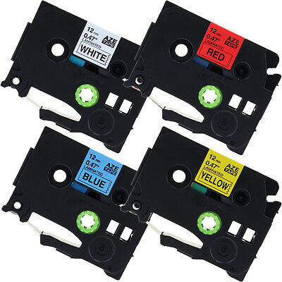 4PACK Compatible for Brother P-Touch TZe231 TZe431 TZe531 TZe631 1/2''Label Tape
