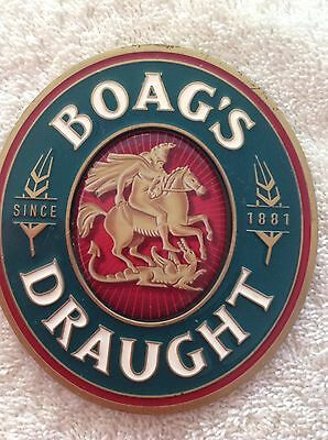 Boags Draught Beer Tap Badge, Decal, Top Great Condition