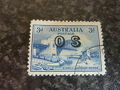 Australia Postage Stamp Sg0135 Os Overprint Superb Used 3D