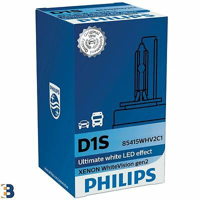 1x PHILIPS D1S WhiteVision gen2 Xenon car headlight bulb 85V PK32d-2 85415WHV2C1