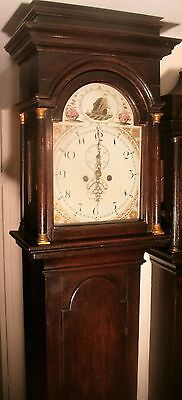 "Antique Slim  Oak "" Congleton""  8 Day Longcase / Grandfather  Clock"