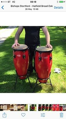 Stagg 10 an 11 inch congas, Nice Original Drums
