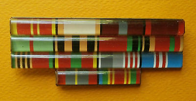 Russian ribbon bars on 14 medals of the Soviet Army, 1970 - 1991
