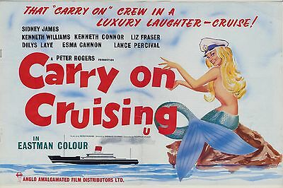 1962 CARRY ON CRUISING Kenneth Williams SID JAMES  ORIGINAL PRESS BOOK L@@K