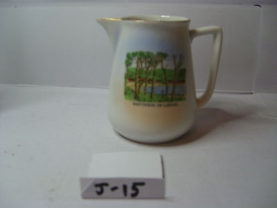 jug    with lorne victoria by royal scenic china  czechoslovakia