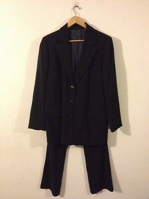 Blooming Ladies Maternity Suit Jacket & Trousers Size 14 Dark Navy <R10870