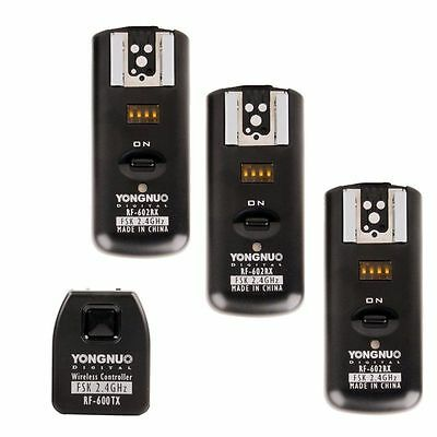 Yongnuo RF-602/C Wireless Remote RF602 Flash Trigger W/ 3 Receiver for Canon 60D