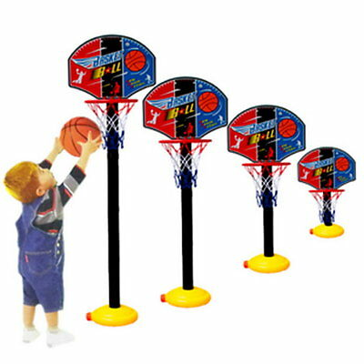 Kids Sports Portable Basketball Toy Set with Stand Ball & Pump Toddler Baby ZJBR