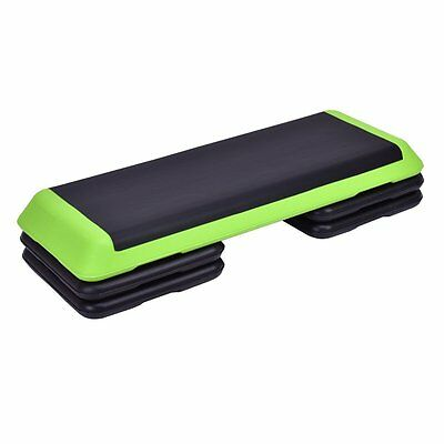 "Goplus 43'' Adjustable Fitness Aerobic Step  4"" - 6"" - 8"" Non-Stick Surface"