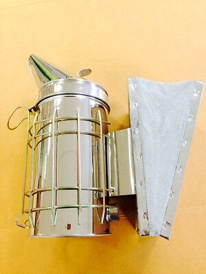 Large stainless steel smoker with removable easy light firebox
