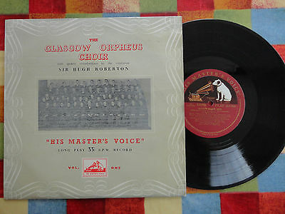 "The Glasgow Orpheus Choir 10"" LP 1950's DLP 1019 **EX/NEAR MINT**"