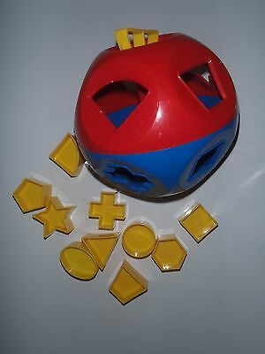 Vintage Tupperware Toy, O Shaped Ball With Shapes, 10 Shapes, Complete Good Cond