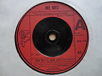 """The Bee Gees How Deep is Your Love 7"""" Single 1977 **EX**"""