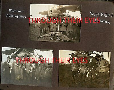 Dvd Scans German Ww1 Pilots Photo Album Marine Corps Flanders Flieger Flandern