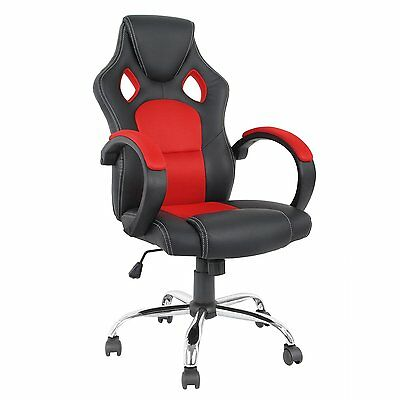 Luxury Sport Racing Office Chair Computer Swivel High Back PU Gaming Faux NEW