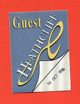 "Cliff Richard  Guest Pass For  ""heathcliff""  16Th October 1996 Performance"